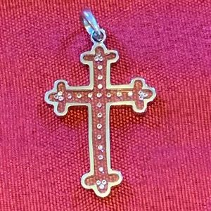 Jewelry - Cross pendant in Silver with real diamonds
